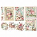 Stamperia - Rice Paper Sheet 48x33cm Pink Christmas